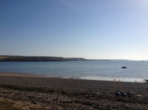 Beach at in Pembroke, Wales