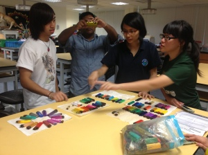 Back in NUS, some were sorting the origin of lighters for use in research