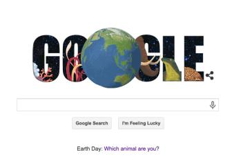 GoogleDoodle Earth Day 2015