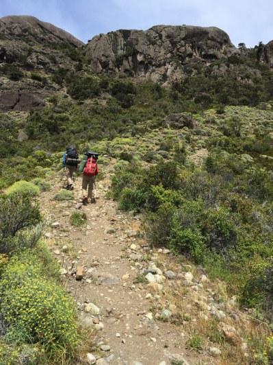 On the Sendero de Chile trail going towards Puerto Ibañez from Villa Cerro Castillo